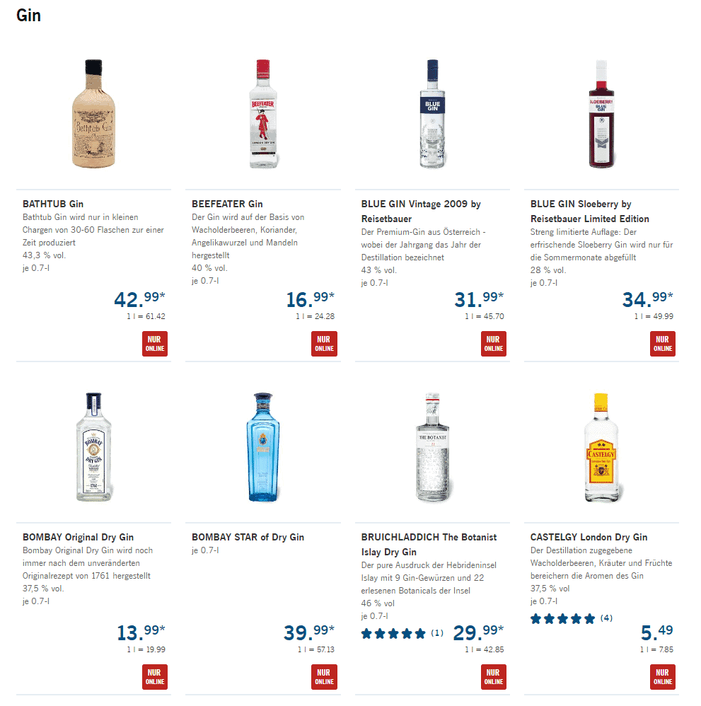 lidl gin