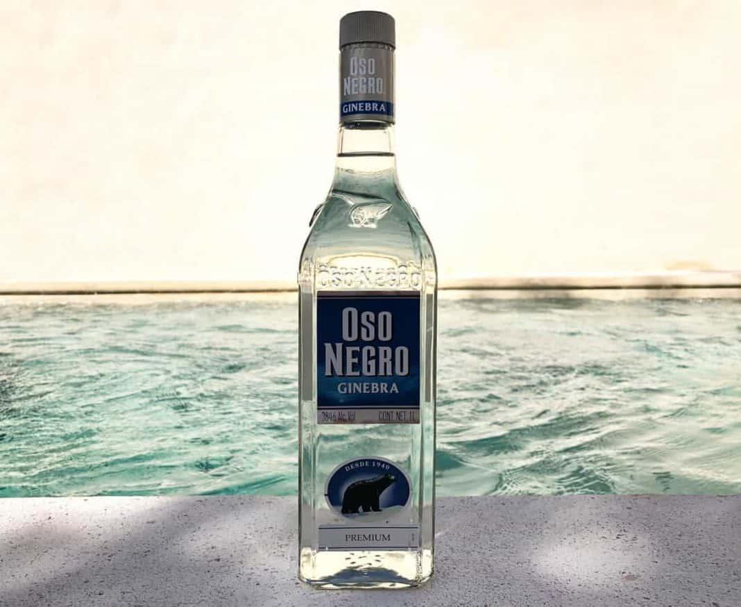 Eine Flasche des Ost Negro Ginebra Premium Gins