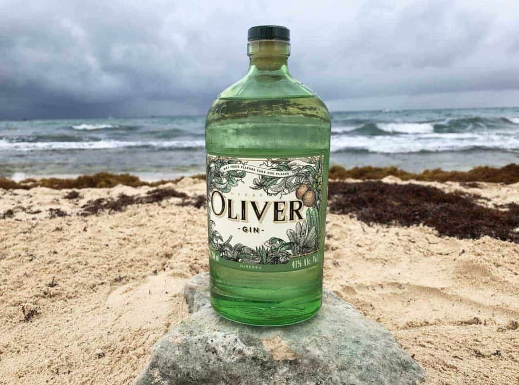 Eine Flasche des Henry Oliver Gins