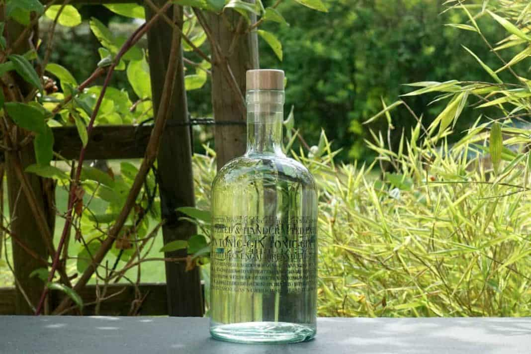Eine Flasche des Gin Tonic Gins