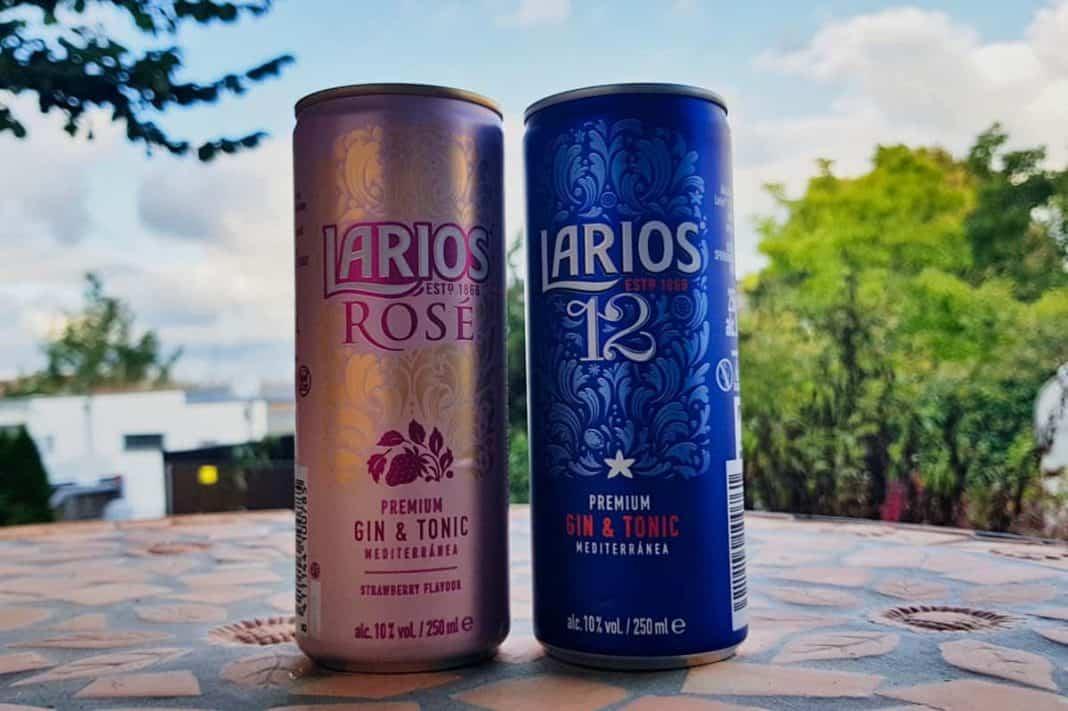 Zwei Dosen Larios Gin Tonic
